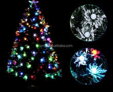 Popular Frosted Ball Snowing PVC LED Lights Xmas Tree Optic Fiber Christmas Tree