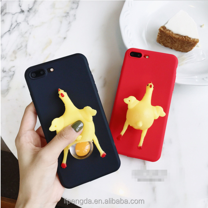 Fashion Cute Squishy Cat Phone Case 3D Protective Soft Silicone Squishy Cat TPU Back Phone Case for iPhone 7 Plus