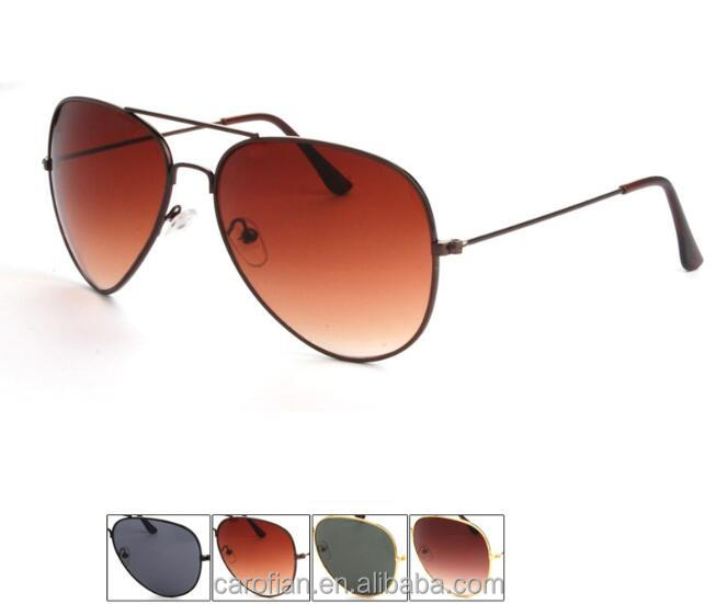 3025 brown smoke lens sliver gold color aviator metal sunglasses