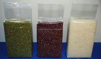 Clear vacuum seal bag for beans/rice packaging