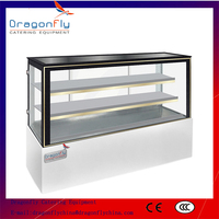 Marble Based Glass Cake Display Fridge for Bakery Equipment