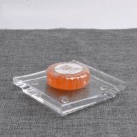 Eco-friendly square clear acrylic soap dish