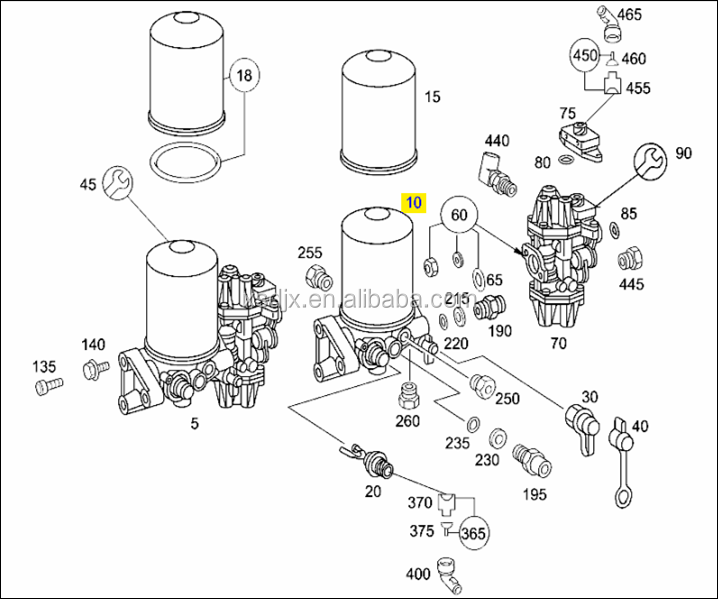 Spares For Mercedes Trucks Parts Air Dryer