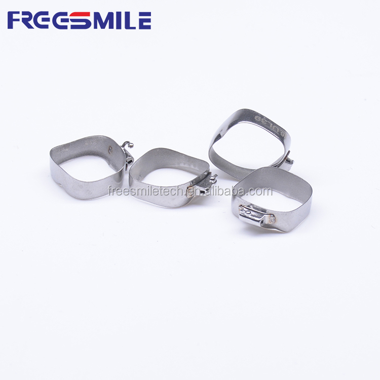 Dental Orthodontic Bands with Buccal Tubes