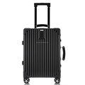 High quality retro style vintage aluminum frame luggage leather handle vintage aluminum suitcase