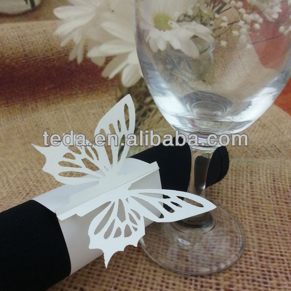 Laser cut butterfly napkin rings from Teda Crafts