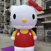2016 hot sale giant inflatable hello kitty for advertising