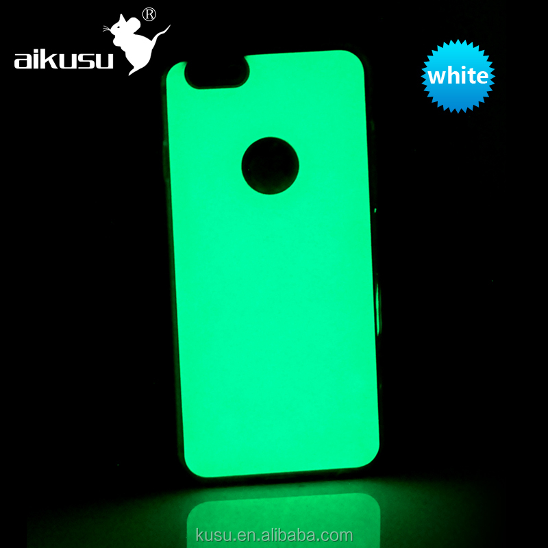 Latest design glow in the dark mobile phone case for i phone 6