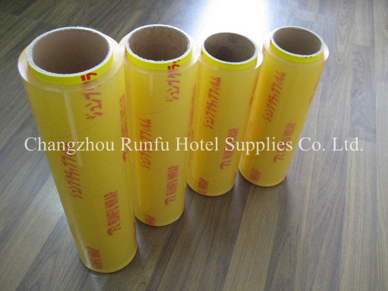 PE cling film food wrap with cutter box