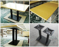 coffee shop furniture Artificial marble top cast iron leg modern Coffee shop tables