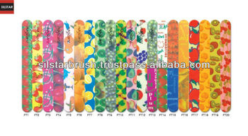 "PATTERN DESIGN NAIL FILE STRAIGHT 7"" (Fruits Design)"