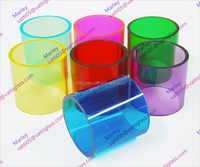 Wholesale high quality heat resistance colored borosilicate 3.3 large diameter glass tube from factory price directly