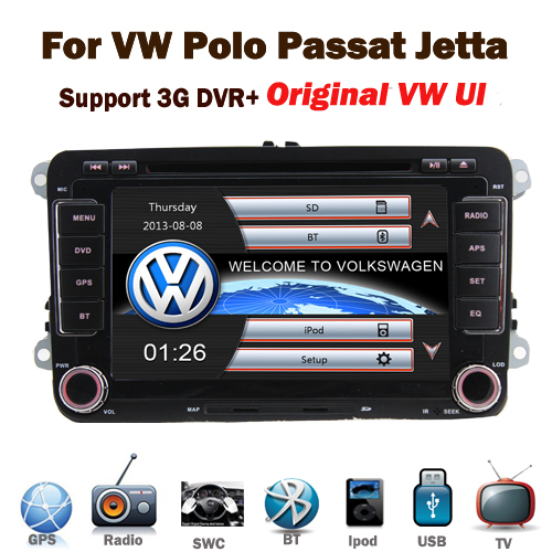 In stock Original UI vw golf 6 car dvd system gps navigation with WIFI 3G