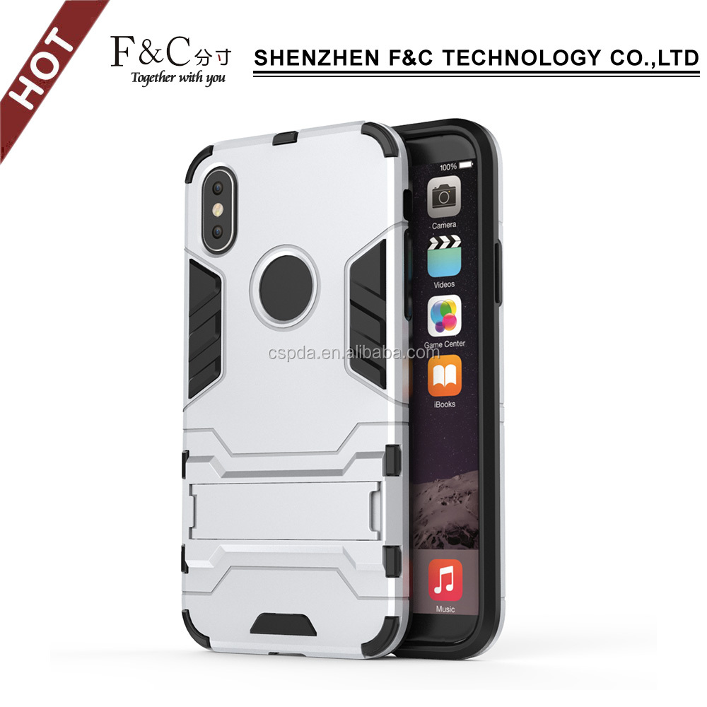 Durable PC and TPU Back cover case for iphone8/X