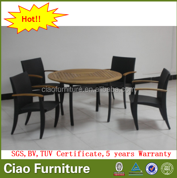 luxury teak wood furniture table chair outdoor dining set