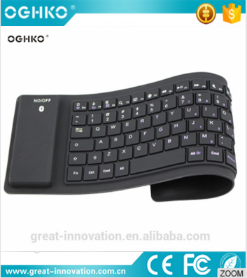 First-rate product foldable wireless silicon soft bluetooth computer keyboard with comfortable hand feel