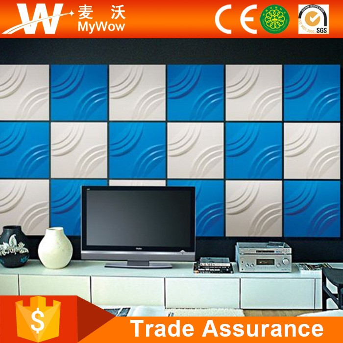 Guangzhou Low Price Wallpaper 3D PVC Wall Panel for Interior Exterior Decorative