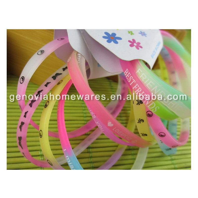 Factory Price silicone bracelet with metal clasp with high quality