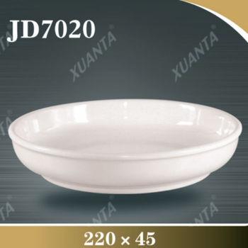Round White Melamine Deep Dish Dinner Plates Buy Deep