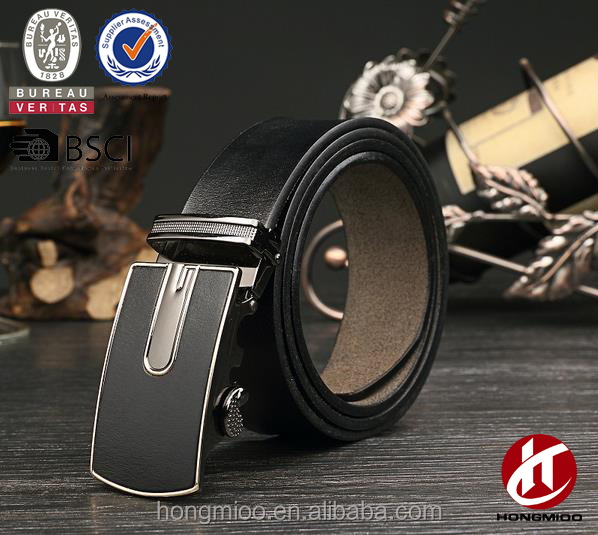 Embossing machine automatic buckle genuine leather belt for men