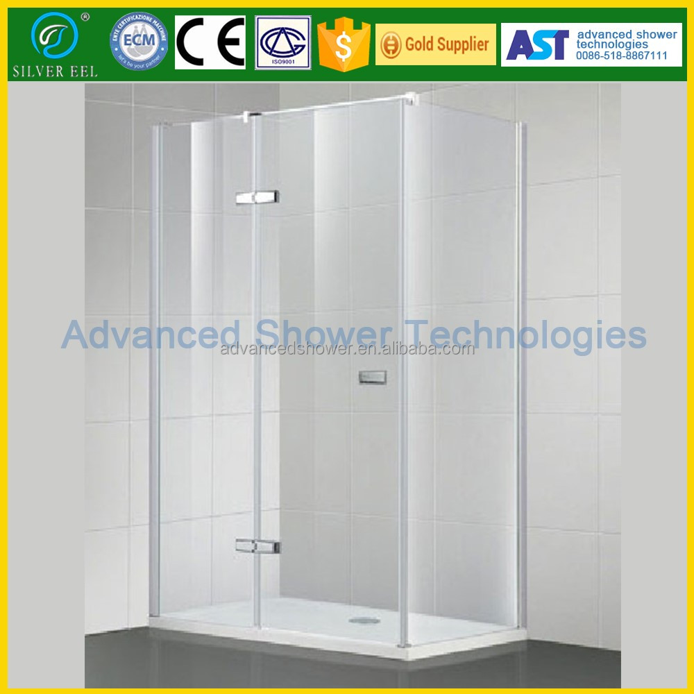 bathroom design glass hinge door portable stainless steel shower stall