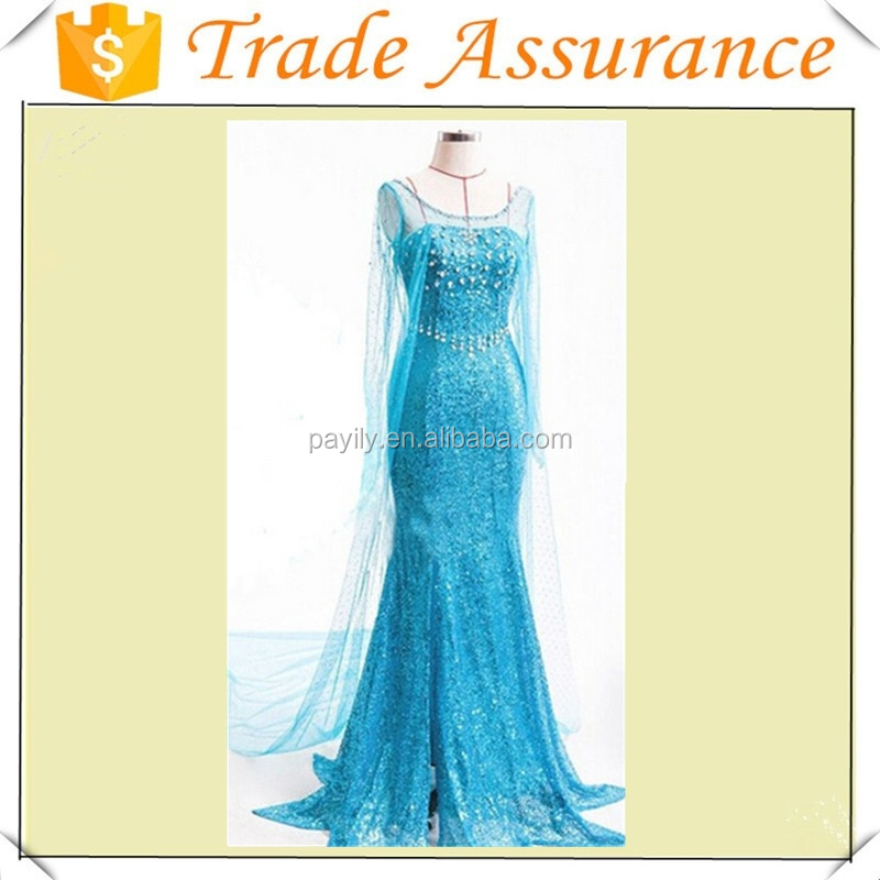 Party Frozen Elsa Princess Dress For Adult