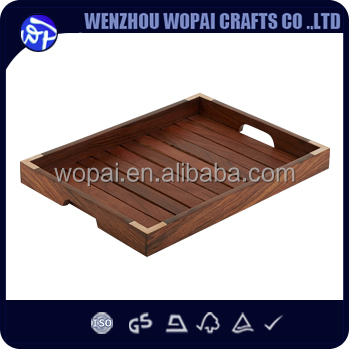 Handmade walnut wood coffee tray tea tray for food use finished wood tray