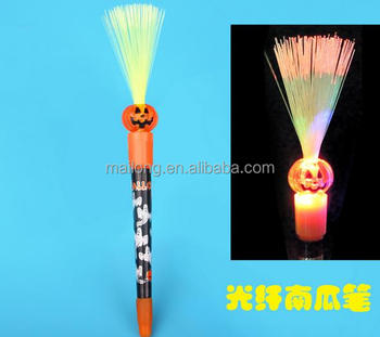 2017 Halloween costumes Strange new creative stationery props Pumpkin ghost witch light-emitting ball-point pen pn3551