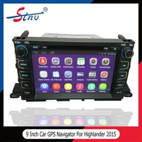9 inch android quad-core car gps navigation for Highlander 2015