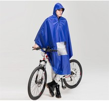 waterproof bick bicycle printed pvc rain poncho