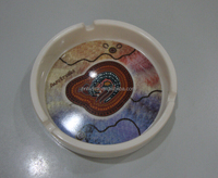 dia.10cm, height:2.5cm. advertising gift round melamine ashtray (model number:A8004)