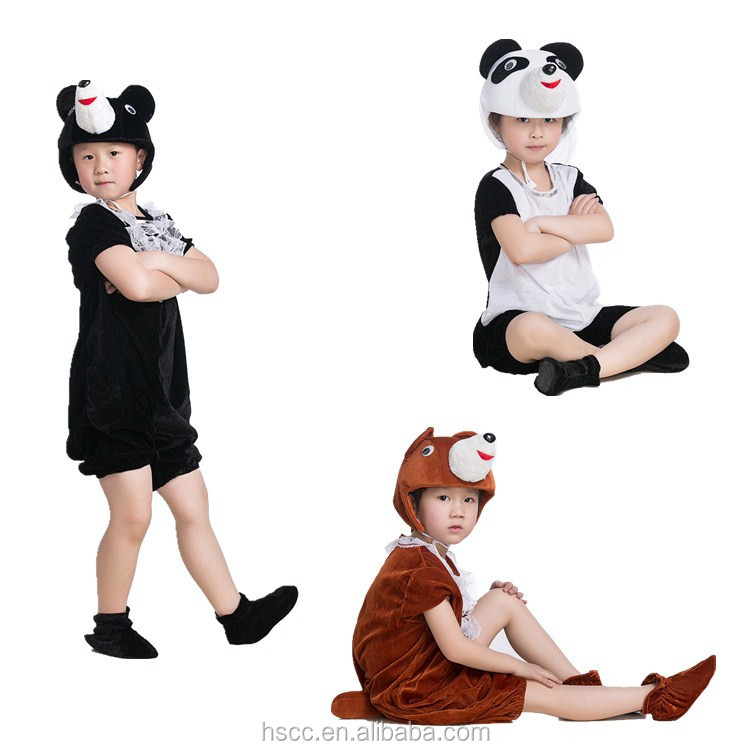 Cheap In Stock High Quality Kids' Plush Animal Costume Cute Bear Performance Stage Show Wear