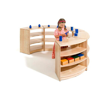 High Quality Educational Montessori Furniture School Wooden Kids Toy Cabinet