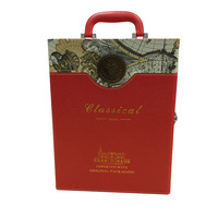 best price China manufacture custom fashion wine gift box for 2 bottle
