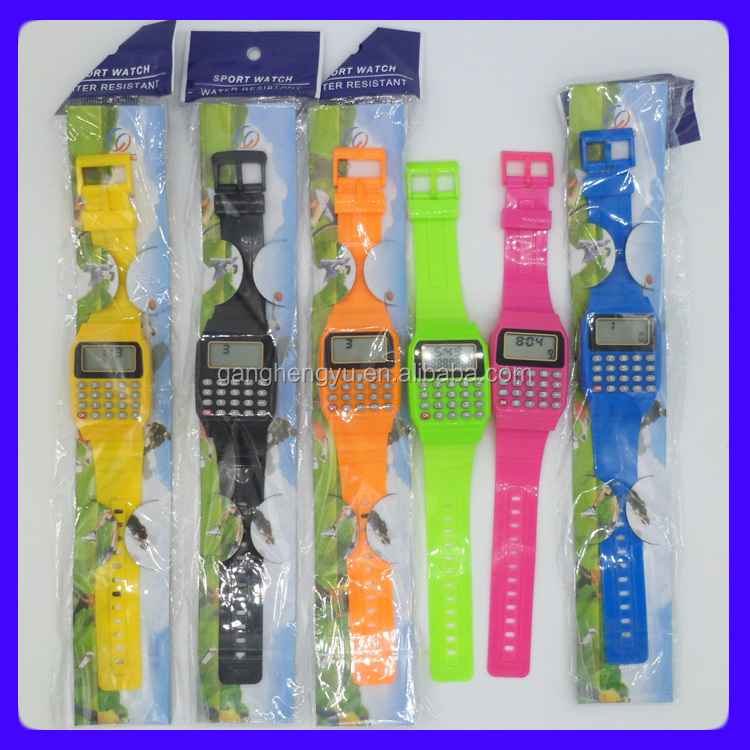 Promotional gifts electronic silicone calculator watch