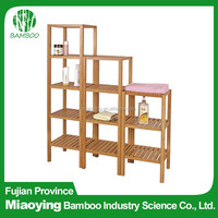 Ladder Shape Decorative Bamboo Storage Rack for Office
