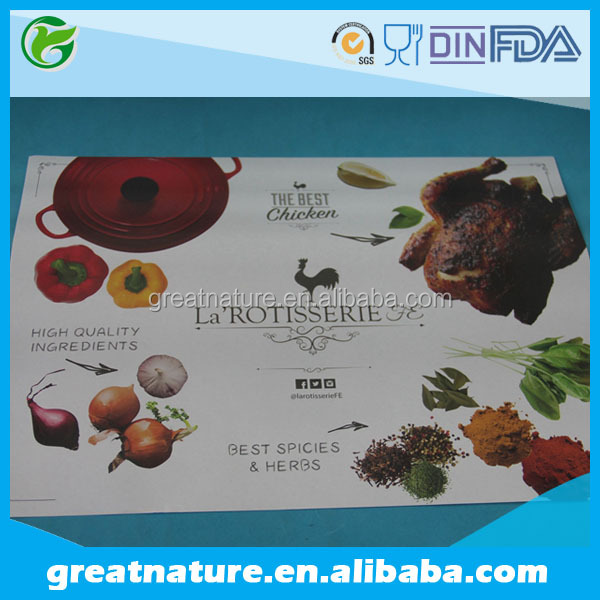 Personalized printing food paper tray liner