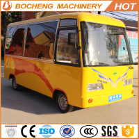 fashionable hot dog food van with sunshade