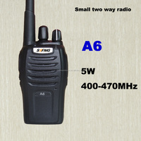 Cheaper price for mini vhf uhf two-way radio used walkie talkie A6