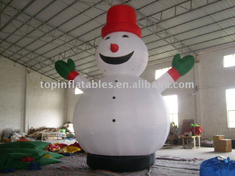 inflatable cartoon, inflatable snow man,cartoon model