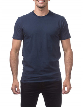 Navy blue ring spun cotton t-shirts mens ringspun t shirt custom logo light weight tees plain tee shirts