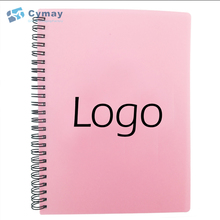 Custom blank paper notebook with logo printed hard plastic cover imported from China cheap bulk