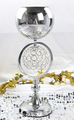 Christmas glass vases for centerpieces with LED light for party decoration