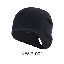 Winter Fashion Ponytail Hole Earbuff Running Beanie Hats Cycling Cap Fleece Thermal Helmet Liner Skull Caps with Ear Covers