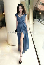 High-rise waist Cut-out ladies casual dress Woman Clothes Elegant Long Evening Party Women's Summer Dresses 2015
