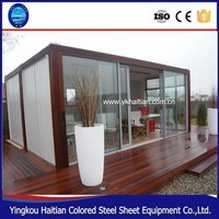 2016 POP Hot Sale New Modular Fireproof Vacation Container House Holiday Hotel
