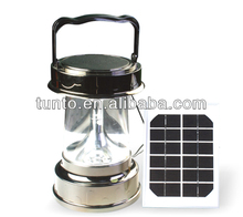 ABS+PC made solar emergency light,solar powered lantern with separate solar panel 3W