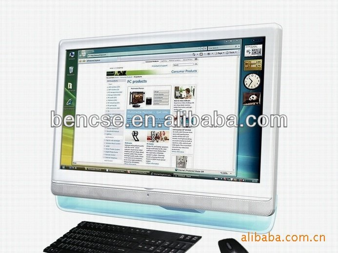 22 inch LCD TV All in One Computer Desktop PC with Wifi