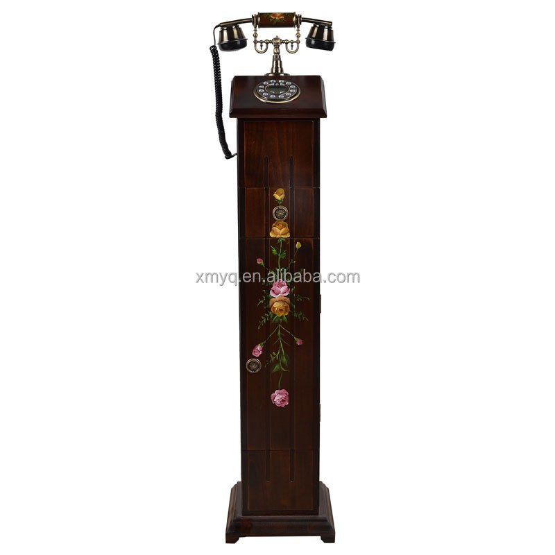 Vintage Home Decor Wooden Telephone Furniture