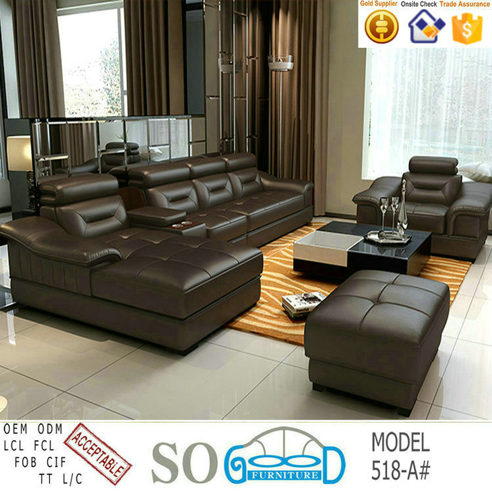 New Model Living Room Leather Sofa